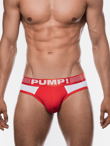 PUMP! Ribbed Brief red