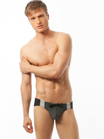 N2N University Comp Swim-Brief grau