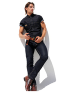Rufskin Stud Denim-Shirt black