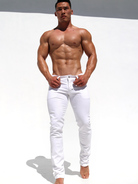 Rufskin Chino Denim-Jeans white