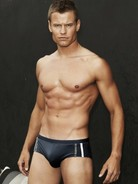 Sauvage Swim Brief Black/stripes