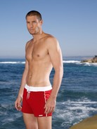 Sauvage Swim Shorts Red
