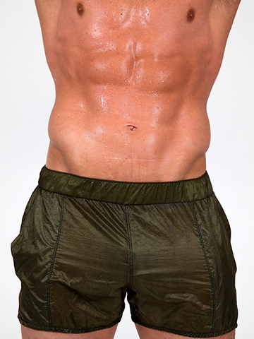 Pistol Pete Chute transparent Shorts olive