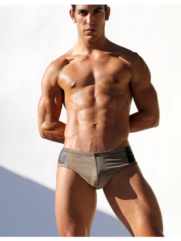 Rufskin Pike Swim-Briefs camel