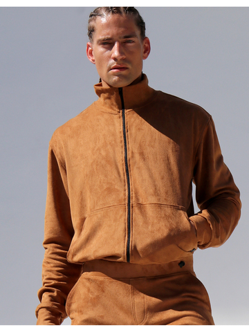 Rufskin Bronx-Jaquet in Suede-Look tobacco