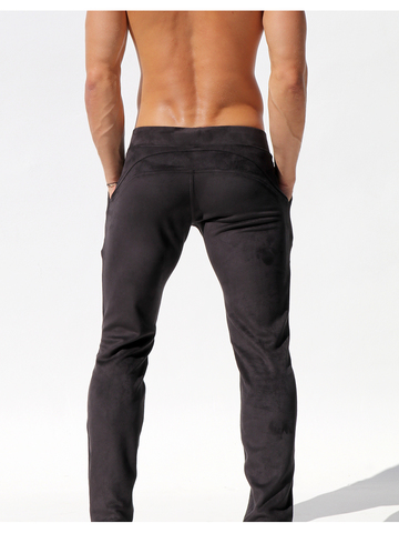 Rufskin Queens Sport- and Leisure Pant in Suede Look black