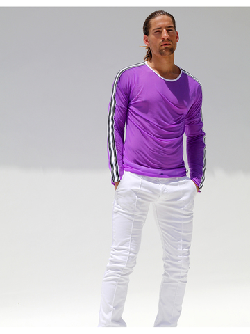 Rufskin Pilot longsleeve shirt sheer purple