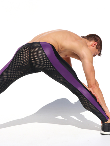 Rufskin Versus purple Mesh Sportleggins