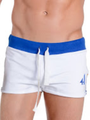 4Hunks Coach Sweat Shorts weiss