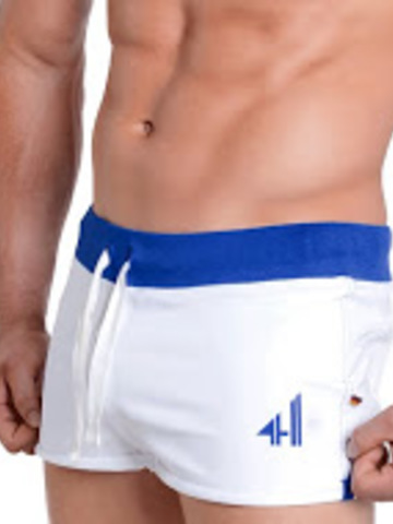4Hunks Coach Sweat Shorts white