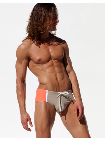 Rufskin Ezio Swim-Brief cappucino/highlighter