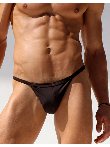 Rufskin Split Swim-Brief Chocolate