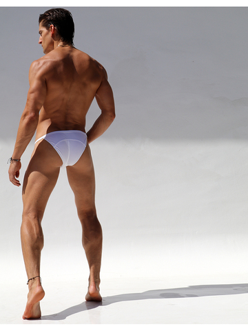 Rufskin Split Swim-Briefs Cream