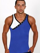 Pistol Pete Rivet Tank royal/whi