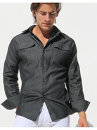 Rufskin Allen Denim-Shirt grey