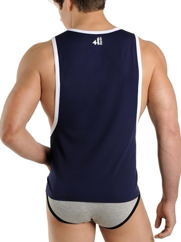 4Hunks Fitted Tank Top navy