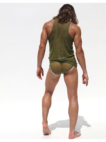 Rufskin Carre Sheer Tank-Top olive