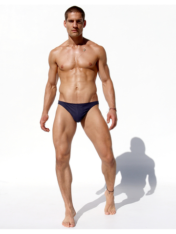 Rufskin Pose Stretch-Briefs Eco-Suede navy